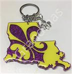 Purple and Gold Keychain