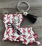 Louisiana Crawfish Keychain